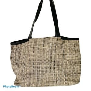 Chilewich woven pebbled leather beach bag tote